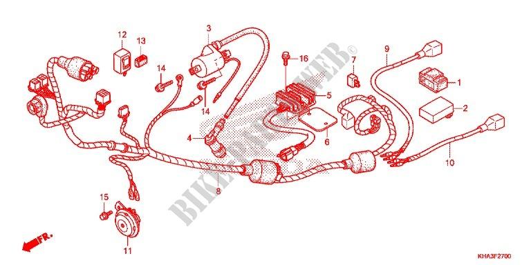 wire harness battery for honda ctx 200 bushlander 2015 honda c100 wiring-diagram honda 200 motorcycle wiring diagram #10