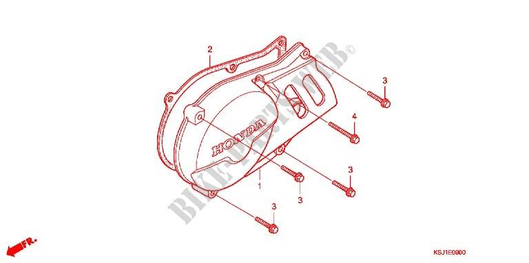 Left Crankcase Cover Alternator  2  For Honda Crf 100 2010