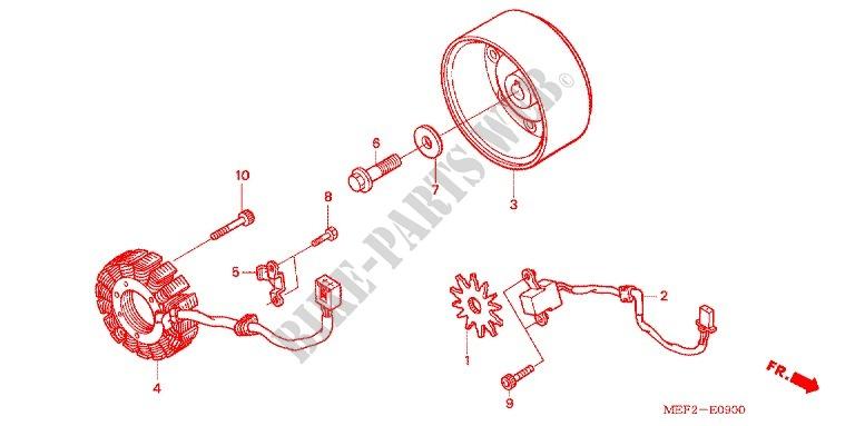 Left Crankcase Cover Alternator  2  For Honda Silver Wing