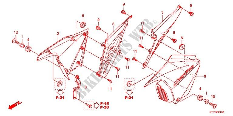 Side Covers For Honda New Mega Pro 150 Pgmfi  Casted