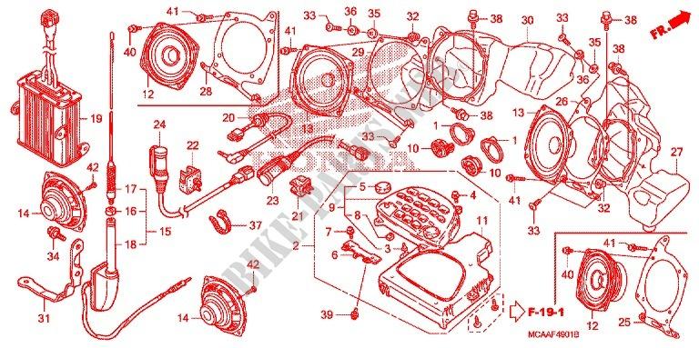 Honda Moto 1800 Goldwing 2009 Gl18009 Frame Appareil Audio Gl1800: Honda Gl1800 Engine Diagram At Shintaries.co