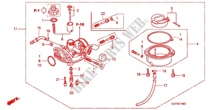 Carburetor O P  Kit For Honda Crf 70 2010   Honda Motorcycles  U0026 Atvs Genuine Spare Parts Catalog