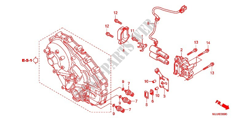 Linear Solenoid For Honda Nc 750 X Abs Dct Lower 2014