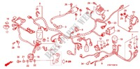 WIRE HARNESS (2) for Honda WAVE 125, PGMFi, Kick start 2005