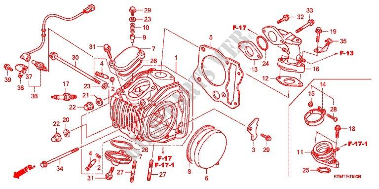 CYLINDER CYLINDER HEAD Engine NF125T5 2005 WAVE 125 MOTO Honda ... on engine displacement diagram, engine carburetor diagram, engine supercharger diagram, engine rod diagram, engine cross section diagram, rolls-royce merlin engine diagram, overhead valve engine diagram, engine block diagram, engine bearing diagram, 2001 ford 5.4 engine diagram, engine manifold diagram, engine stroke diagram, engine rocker arm diagram, spark plug diagram, engine pistons, engine indicator diagram, car engine diagram, engine injector diagram, piston diagram, engine hose diagram,