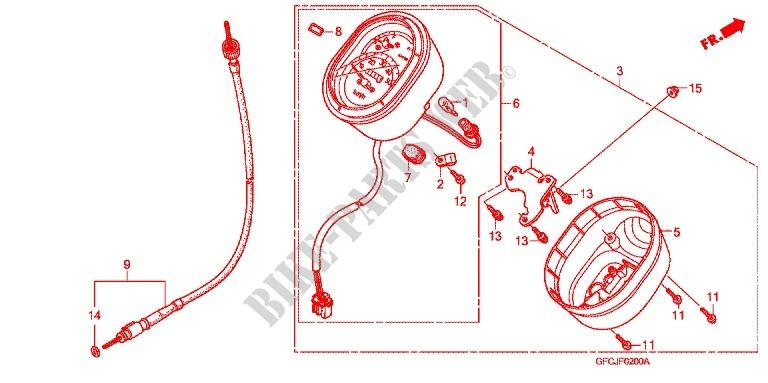HEADLIGHT SPEEDOMETER 2 Frame NFS501SHC 2012 Other Models 50 MOTO ...