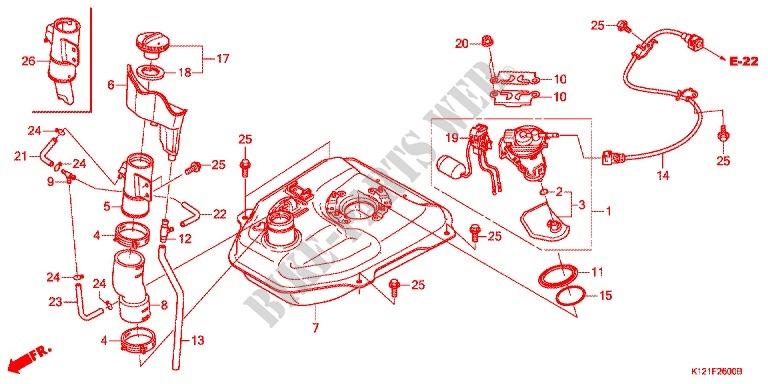 Fuel Tank For Honda Lead 125 2014   Honda Motorcycles