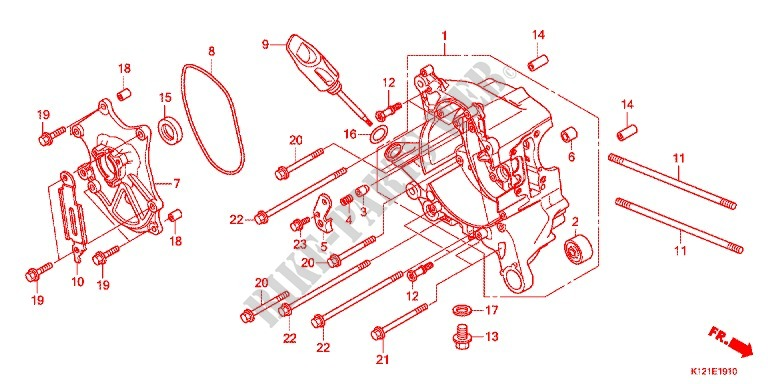 Right Crankcase For Honda Lead 125 2016   Honda