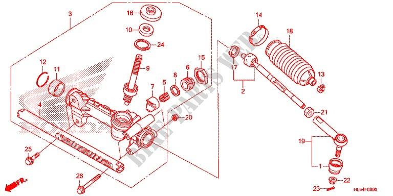 26 Honda Pioneer Parts Diagram