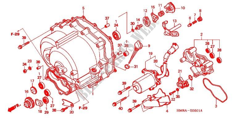 Front Crankcase Cover  Trx250te  For Honda Fourtrax 250 Recon Electric Shift 2005   Honda