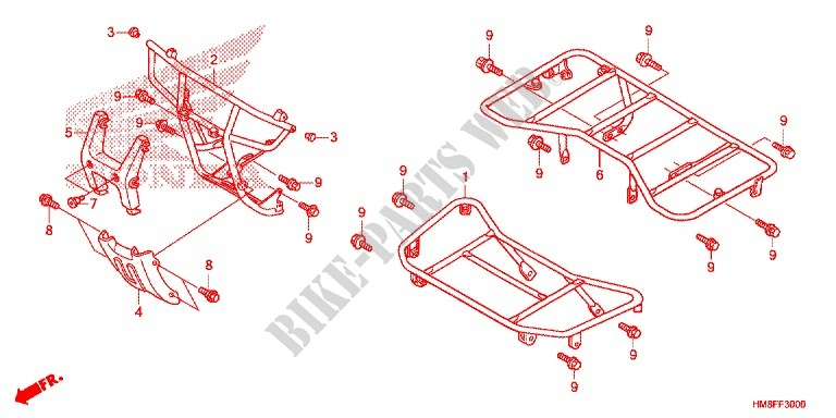 Seat  Carrier For Honda Fourtrax 250 Recon Standard 2014