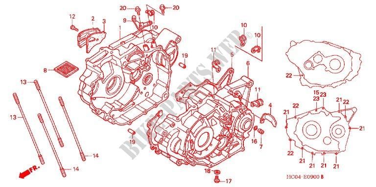 honda atv 250 fourtrax 1988 trx250xj engine crankcase/oil pump