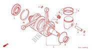 CRANKSHAFT/PISTON Engine 250 honda-motorcycle NSR 1992 E_09