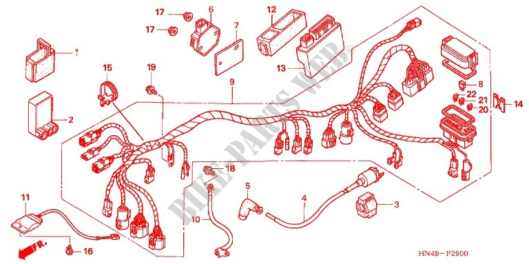 honda 32100-hn5-n10 wire harness wiring harnesses electrical & batteries  residence san pietro barisano