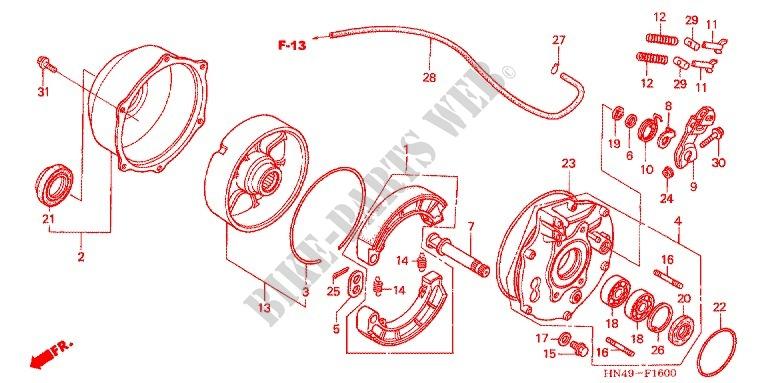 DAMPER HONDA 42624-HN5-M00 RING