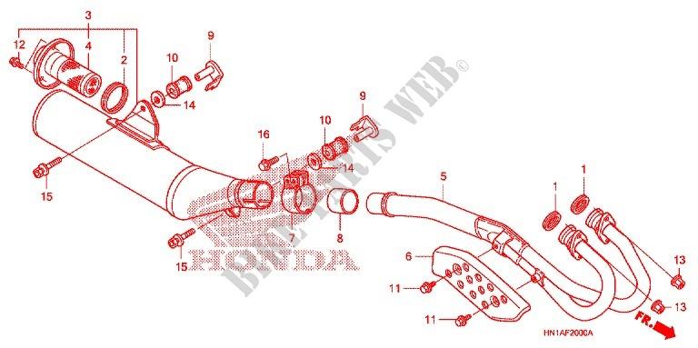 EXHAUST MUFFLER FITS Honda 18300-HN1-000 18300-HN1-A70