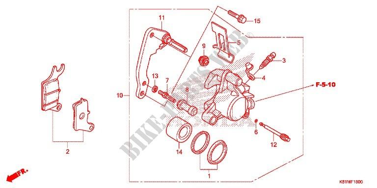honda moto 110 anc 2016 ach110cbfh frame front brake caliper
