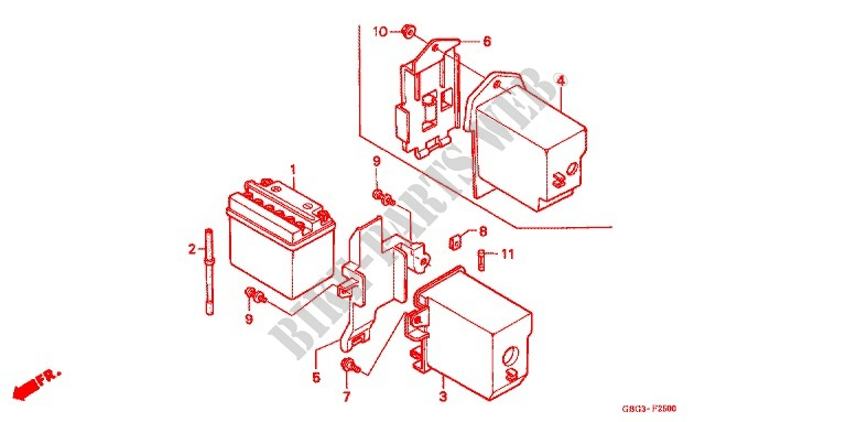 Tools Battery Box For Honda Ex5 Dream 100  Kick Start 2004