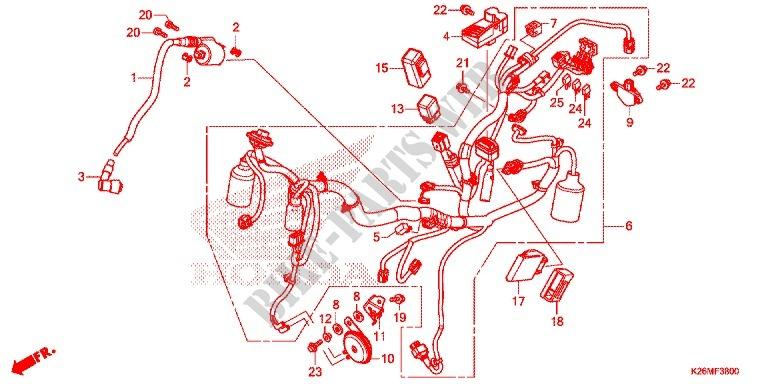 Wire Harness  Battery For Honda Msx 125 2017   Honda