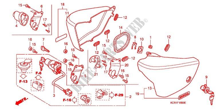 Honda Moto 250 Vt 1994 Vt250cr Frame Side Covertank Cover: Honda Vt250f Wiring Diagram At Hrqsolutions.co