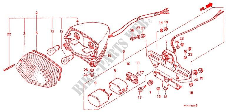 Taillight  2  For Honda Vt Shadow 600 Vlx 1988   Honda