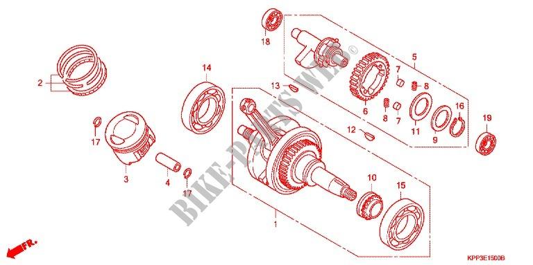 cbr motorcycle engine shaft diagram 4 13 malawi24 de \u2022crank shaft piston engine cbr150r7 2007 cbr 150 moto honda rh bike parts honda com motorcycle engine parts diagram simple motorcycle engine diagram