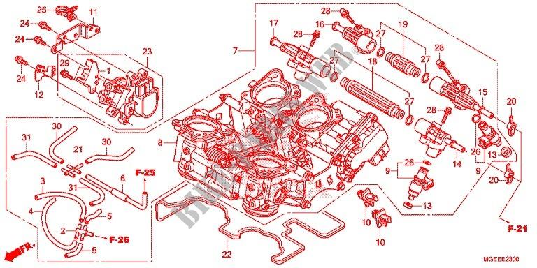 Throttle Body For Honda Vfr 1200 Dct 2017   Honda
