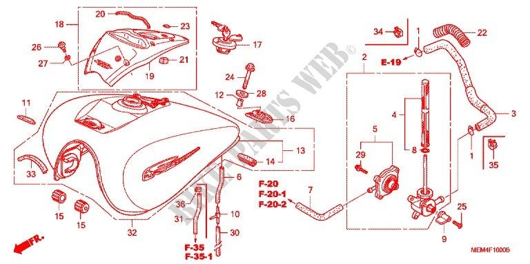 VACUUM HONDA 16957-MEM-670 TUBE B