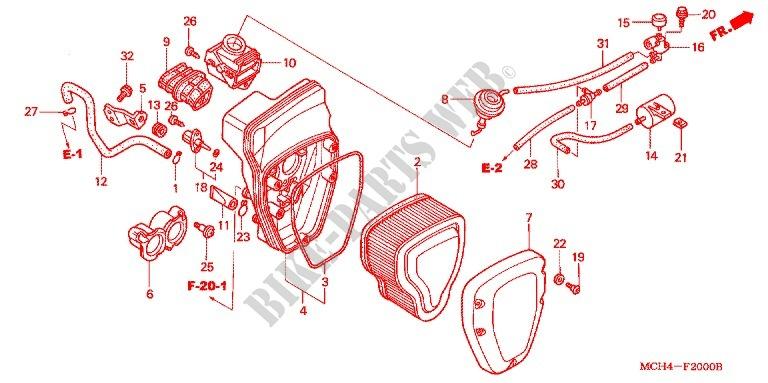 Front Cover Air Cleaner For Honda Vtx 1800 C 2004   Honda