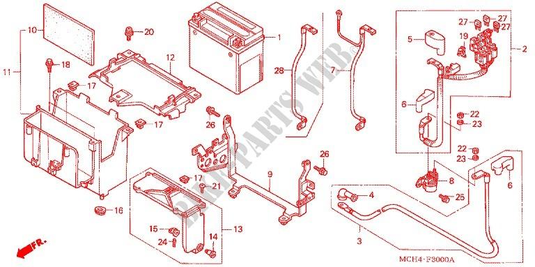 Tools Battery Box For Honda Vtx 1800 F Specification 3
