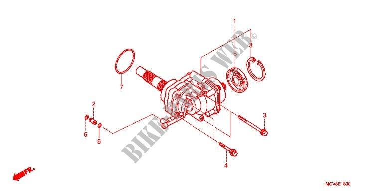 side gear case engine vtx1800s26 2006 vtx 1800 moto honda motorcycle rh bike parts honda com
