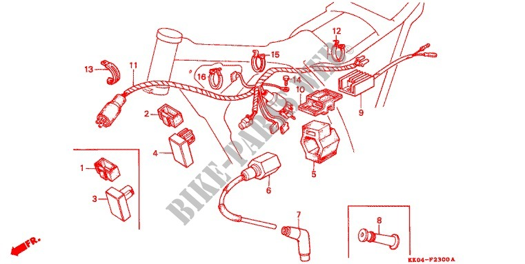 Wire Harness Battery For Honda Xr 200 R 1984 Honda Motorcycles Atvs Genuine Spare Parts Catalog