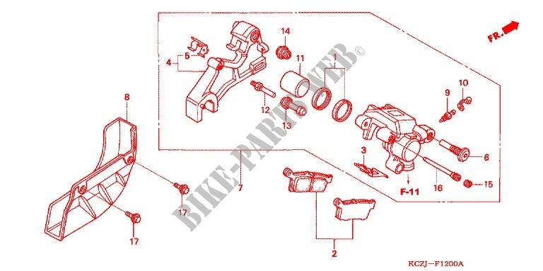 DP 0106-018 Rear Brake Caliper Rebuild Repair Parts Kit Compatible with Honda