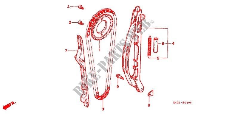 cam chain tensioner engine xr250iiiw 1998 xr 250 moto honda rh bike parts honda com