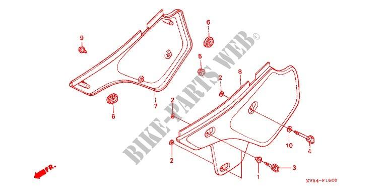 SIDE COVER TANK COVER Frame XR250LT 1996 XR 250 MOTO Honda