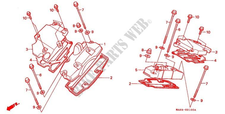 cross shaft engine vt1100ct 1996 vt 1100 moto honda motorcycle Motorcycle Main Fuse honda moto 1100 vt 1996 vt1100ct engine cylinder head cover