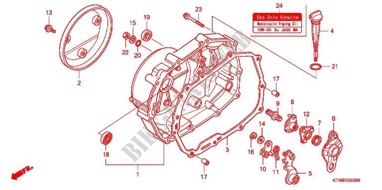 right crankcase cover engine anf125mrm7 2007 wave 125 moto honda rh bike parts honda com