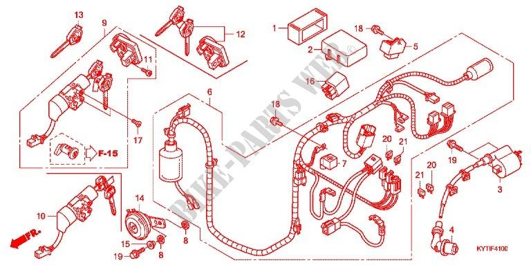 WIRE HARNESSBATTERY SCOOPY FI ACDSCB INDONESIA - Honda scoopy wiring diagram