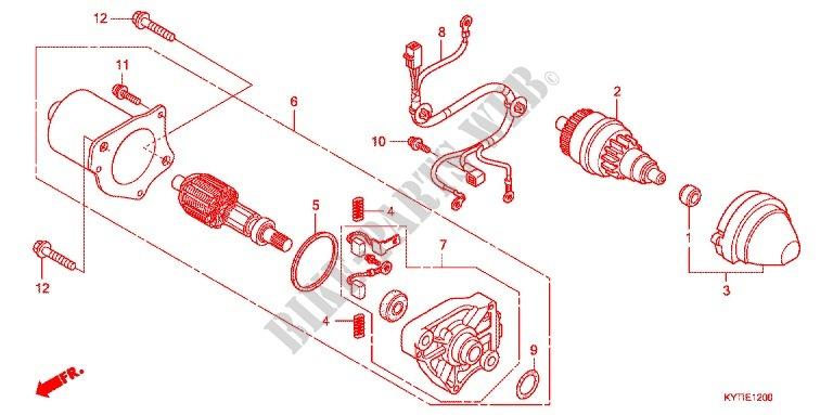 STARTING MOTOR for Honda SCOOPY 110 FI 2013 # HONDA