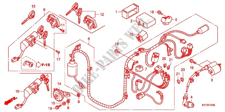 Wire Harness  Battery For Honda Scoopy 110 Fi 2016   Honda