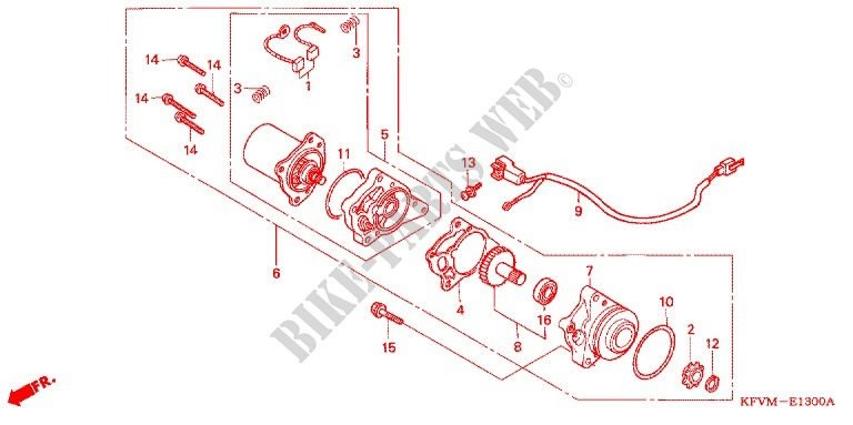 Starting Motor For Honda Ex5 Dream 100  Electric Start