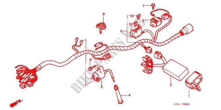 wire harness ignition coi l frame cb50v 1998 cb 50 moto honda honda fc50 honda moto 50 cb 1998 cb50v frame wire harness ignition coi l
