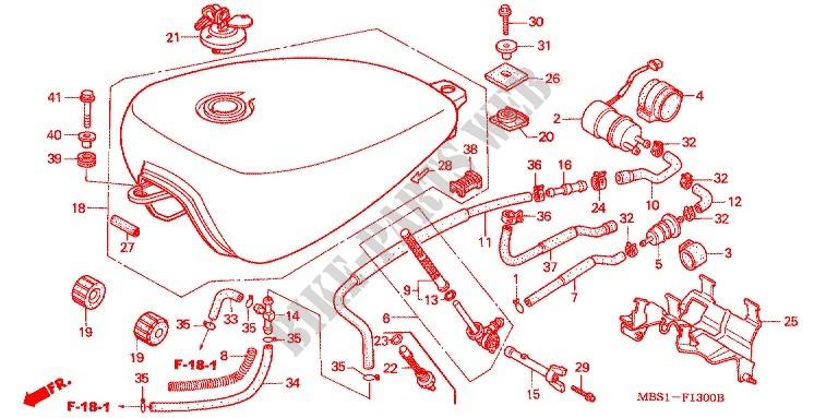 Fuel Pump For Honda Steed 400 Vlx 1998   Honda Motorcycles