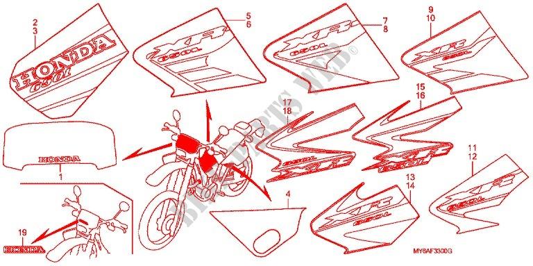 marque rayure 2 frame xr650l2 2002 xr 650 moto honda motorcycle rh bike parts honda com
