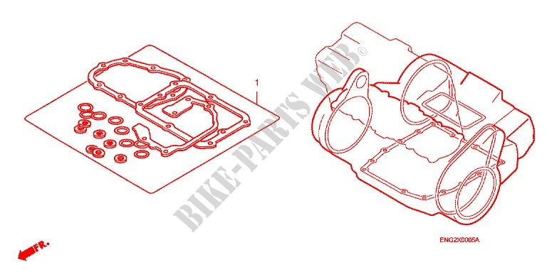 GASKET KIT B for Honda CB 599 HORNET 2004