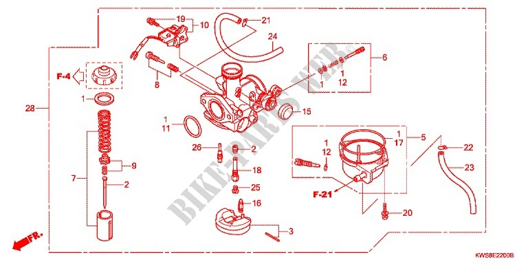 Honda Cv Carburetor Diagram - Wiring Diagrams Dash