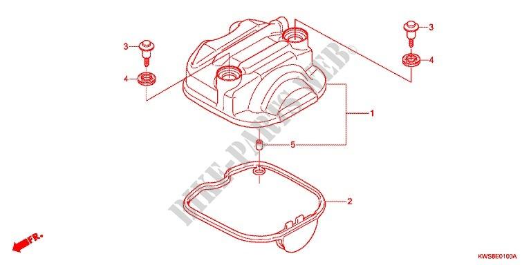 Cylinder Head Cover Engine Cbf110me 2014 Cb 110 Moto Honda