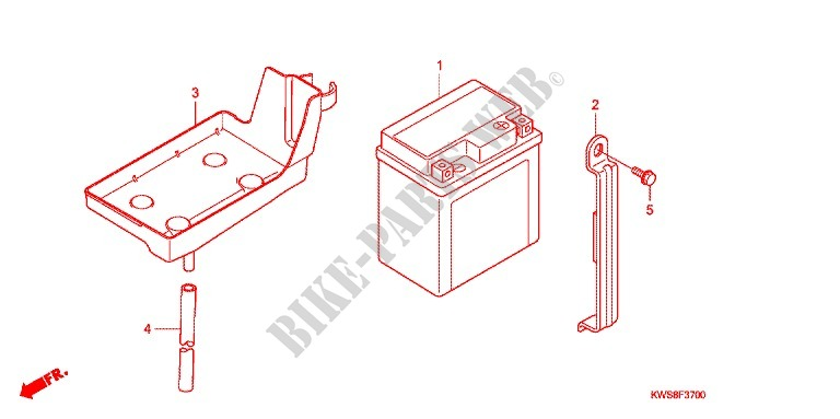 honda moto 110 cb 2014 cbf110me frame wire harness/battery
