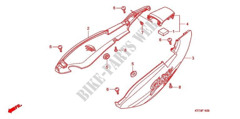 Siege Capot Arriere 1 Frame Cbf125a 2010 Cbf 125 Moto Honda