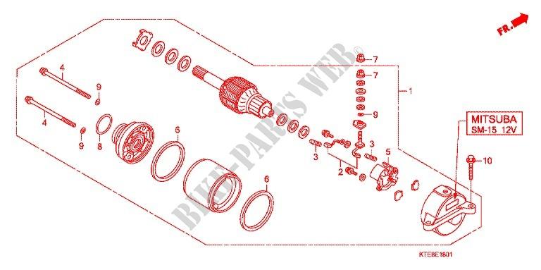 Starter Motor  Mitsuba Sm 15  For Honda Cbf 125 M Stunner